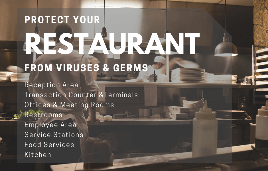 Restaurant Covid Sanitization & Germ Surface Protection