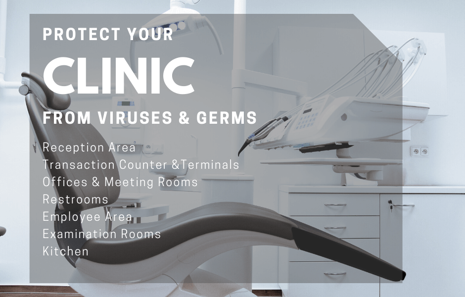 Clinic Covid Sanitization & Germ Surface Protection