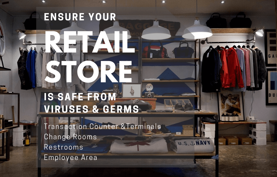 Retail and Store Covid Sanitization & Germ Surface Protection